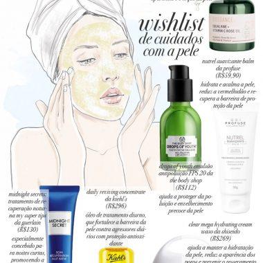 Wishlist de cuidados com a pele Por Layla da Fonseca