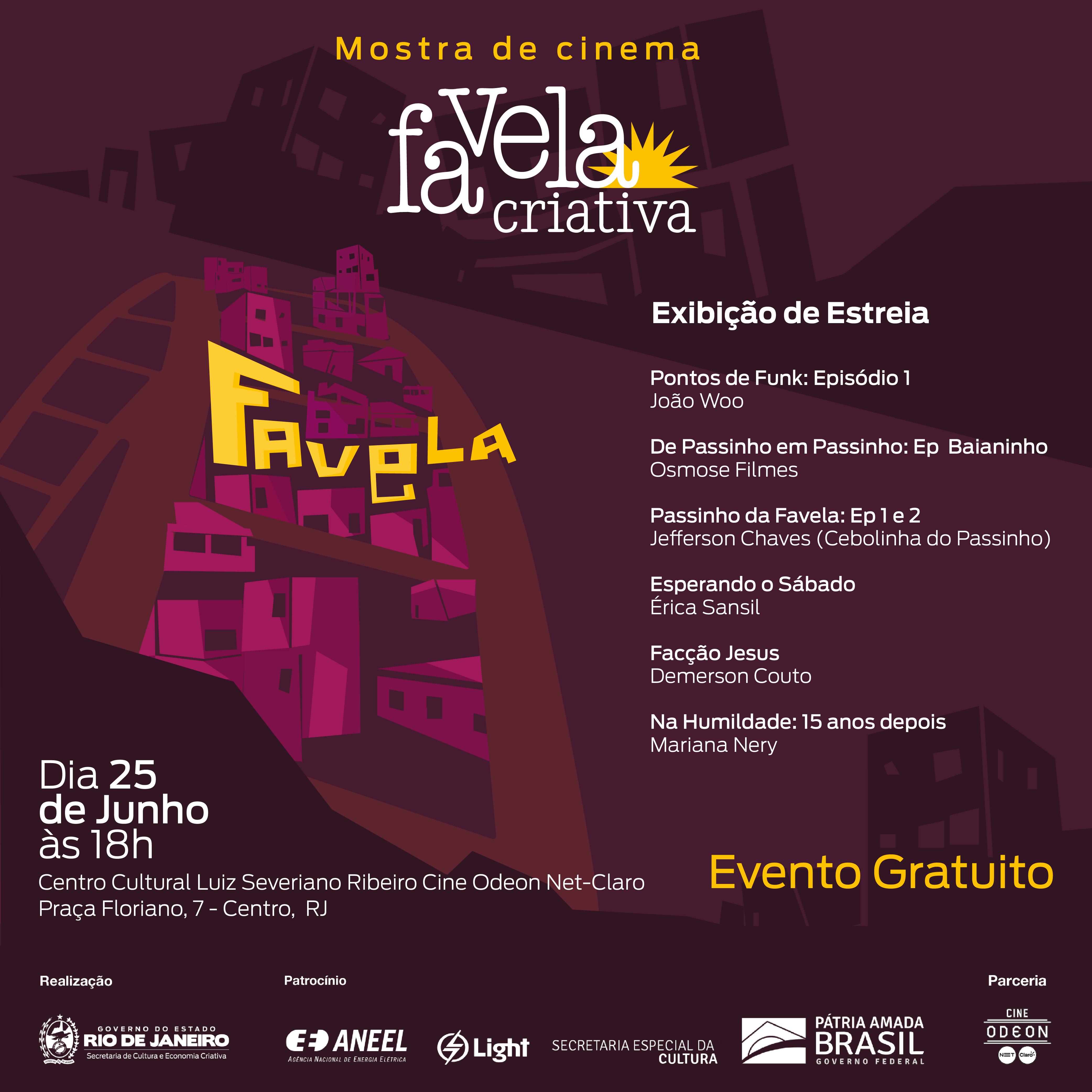 Mostra de Cinema Favela Criativa exibe seis curtas de jovens da periferia
