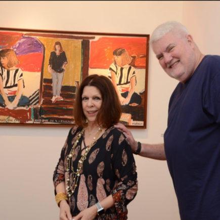 "Abertura da exposição ""DUO de John Nicholson e Vanda Klabin"", na Casa de Cultura Laura Alvim, em Ipanema."