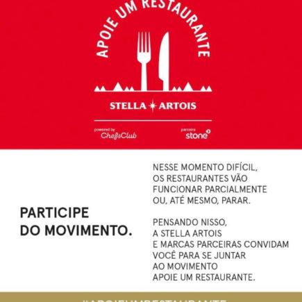 """Stella Artois cria movimento """"Apoie um restaurante"""" para ajudar estabelecimentos afetados pela crise do COVID-19"""