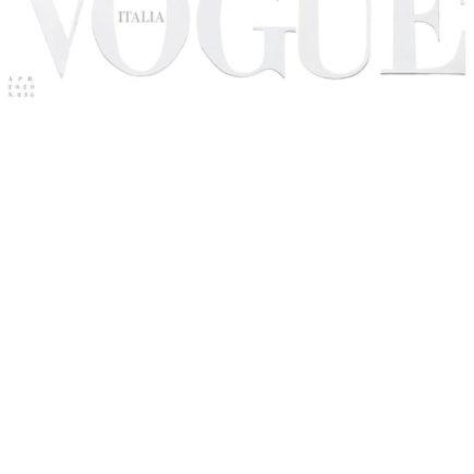 Vogue Itália chega as bancas com uma capa completamente branca