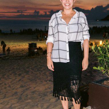 Maria Filó lança linha Duo com sunset em Ipanema