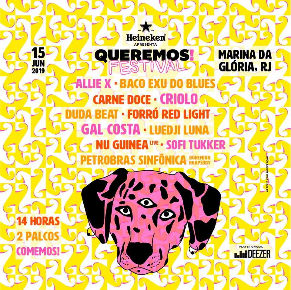 Marina da Glória recebe o Queremos! Festival 2019 neste sábado, 15/06, com 14 horas de música