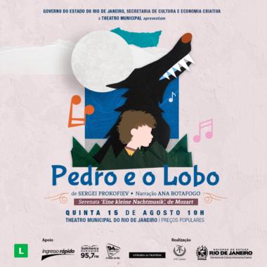 """Pedro e o Lobo"""" de Prokofiev & Eine Kleine Nachtmusik de Mozart, obra composta para crianças pelo compositor russo Sergei Prokofiev, terá narração de Ana Botafogo."""