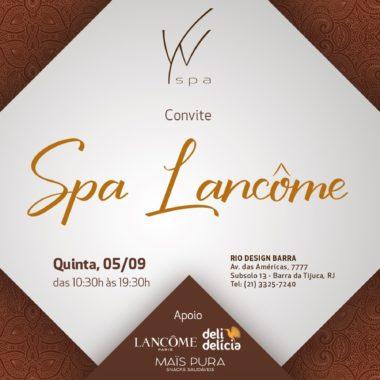 Dia de skincare no W Spa em parceria com a Lancôme