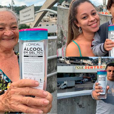 Rocinha recebe Álcool Gel  e produtos da L'Oréal Brasil