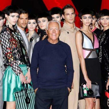 Desfile de Giorgio Armani será transmitido pela primeira vez na TV italiana em horário nobre