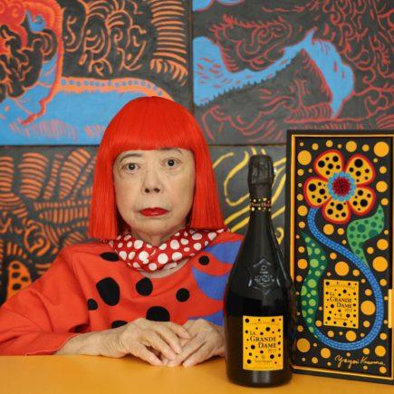 Yayoi Kusama ilustra champagne Veuve Clicquot