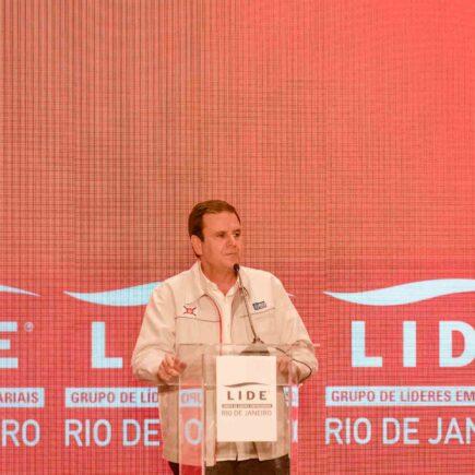 Eduardo Paes participa de evento do LIDE Rio de Janeiro no hotel Fairmont