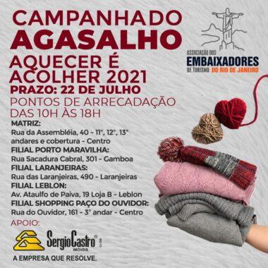 Campanha do Agasalho: aquecer é acolher é a nova missão da Associação dos Embaixadores de Turismo do RJ